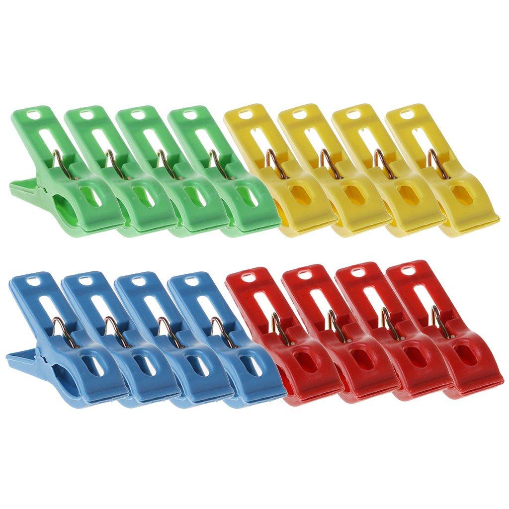 Xuniu 20 Pezzi di plastica per bucato Vestiti Spille pioli Clip appesi Rack mollette Morsetto
