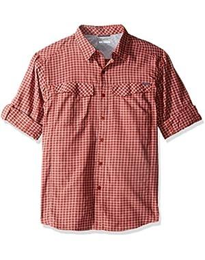 Men's Big-Tall Silver Ridge Plaid Long Sleeve Shirt, Rusty, 1X