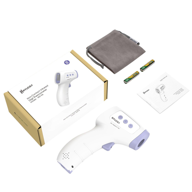 hylogy termómetro, termómetro digital de infrarrojos con alta temperatura función de alarma para niños, adultos, superficie de objetos: Amazon.es: Amazon.es