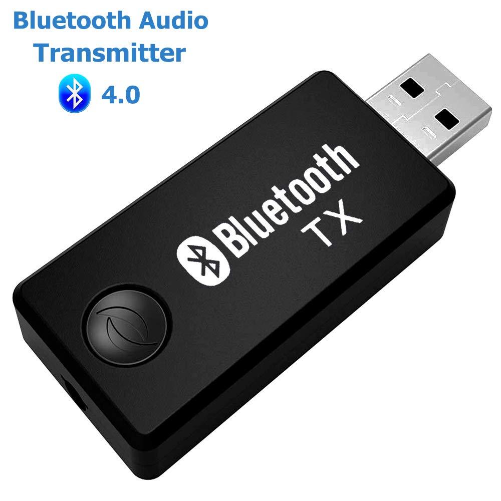ARTBEST Transmisor inal/ámbrico Bluetooth Stereo Music Stream Video Port/átil USB Dongle Adaptador de audio par con receptor para coche TV Equipo port/átil de ordenador port/átil Sistema de audio