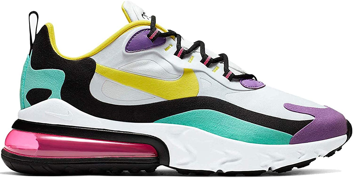 Amazon.com: Nike Air Max 270 React Hombres Ao4971-101 Talla ...