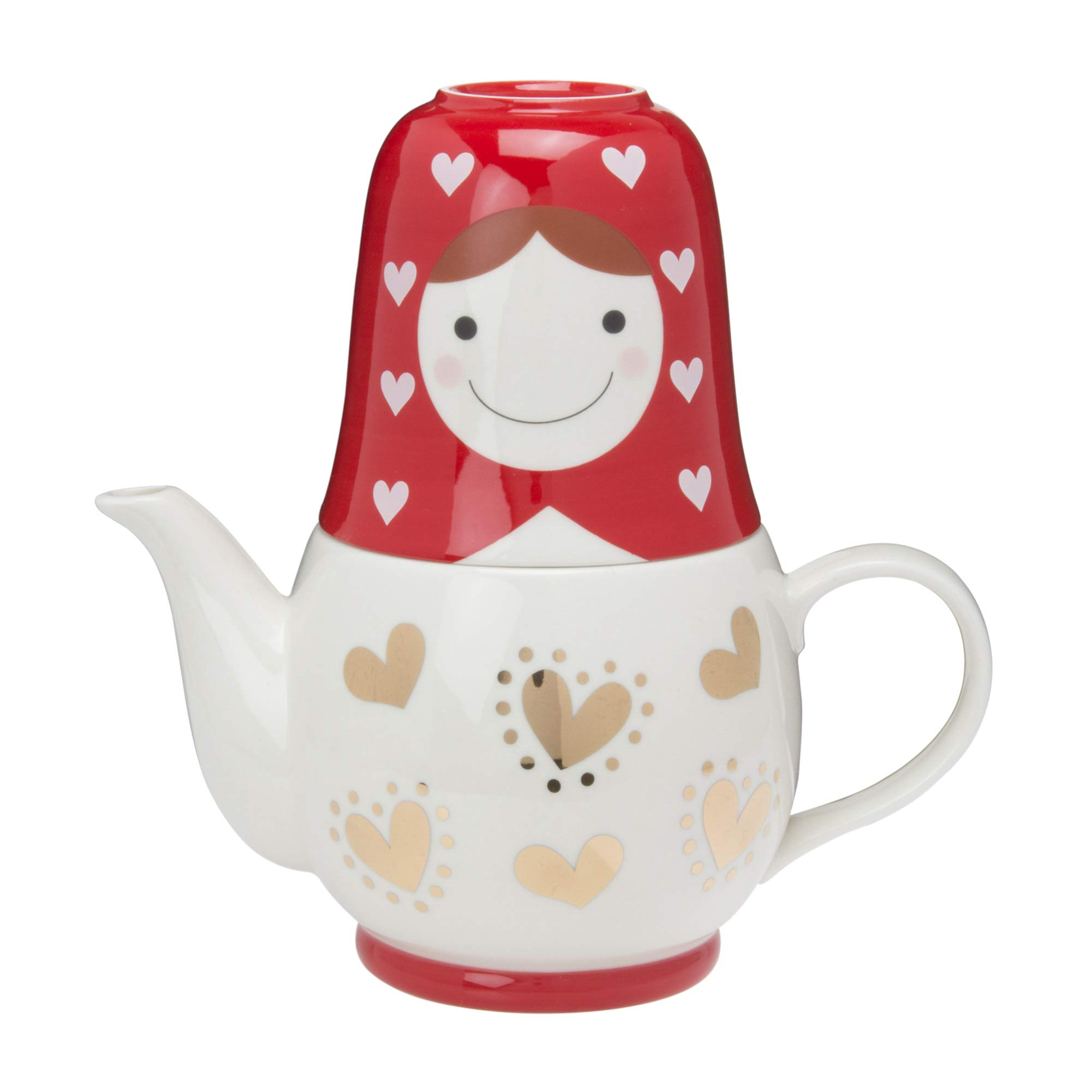 Matryoshka Tea for Two(set of Pot and Cup with a Tea Strainer)