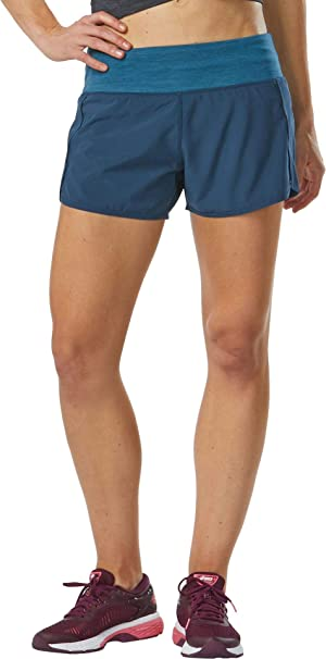 R-Gear Womens 7-Inch Running Workout Shorts with Pockets and Brief Liner Outpace