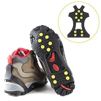 791f1b4098 Baisde Crampons de Glace 10 Dents Griffes Anti-dérapant Couvre-Chaussures  pour la Neige