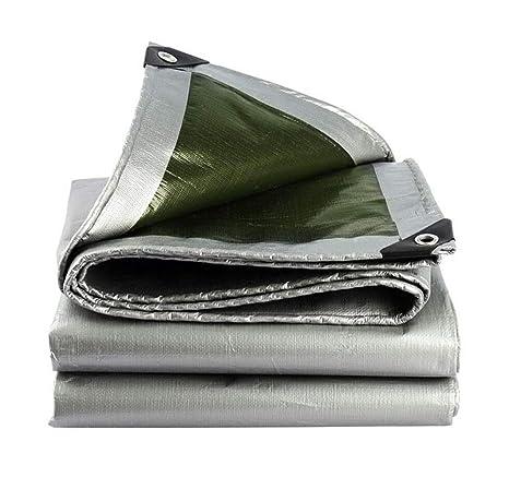 HRFHLHY Espesar PE De Plástico Poncho De Protección Solar De Lona Exterior Sombra Paño Ojal Plegable
