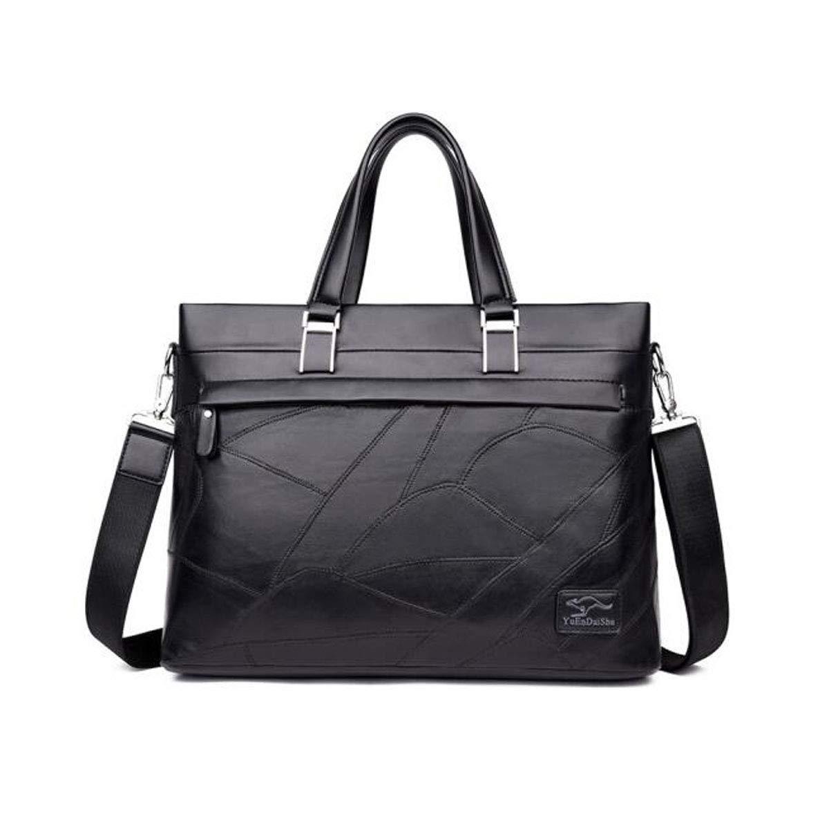 Shoulder Messenger Bag Soft Leather Bag Mens Handbag Black Size: 39729cm Cross Section Business Casual Tide Mens Bag Color : Black 8haowenju Briefcase Mens Bag