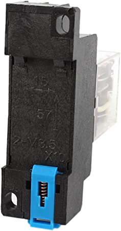 Sourcingmap 35mm Din Schienen Dpdt 8 Pins Allzweck Leistungsrelais Ac 24v Spule Mit Buchse De Baumarkt