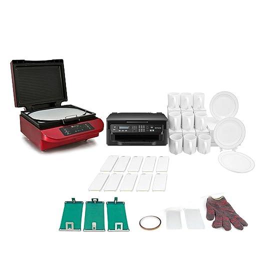 PixMax - Prensa Térmica 3D Roja PixMax para Sublimación & Paquete ...