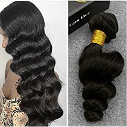 Ugeat 10inch Unprocessed 6A Brazilian Real Clip in Human Hair Extensions Loose Curly Virgin Hair Natural Color Clips In For Thin African Black Women Full Head Set 120Gram 7Pcs