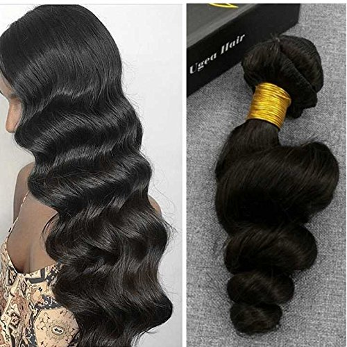 Search : Ugeat 20inch 7pcs 120g Thick Double Weft Loose Wave Wavy Clip in African American Hair Extensions Remy Human Hair Clip in Hair Extensions for Black Women Thin Hair