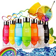 Lemon Water Bottle Gym Cups TOPIND Fruit Infuser Squeezer Infusing Health Cup 650ml H2O Outdoor Sport Water Bottle Lemon Juice Drink Cup Sport Health Juice Maker Multiple Colors