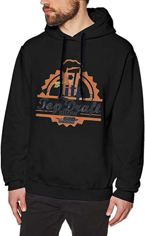 Imagen deDFGDG Men's Hooded Sweatshirt Just Drink It Miller Li_te Fashion Hoodie Pullover Black Navy