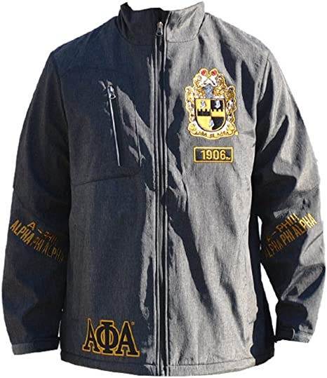 Big Boy Gear New Mens Alpha Phi Alpha Satin Fraternity Jacket Men of Black /& Gold