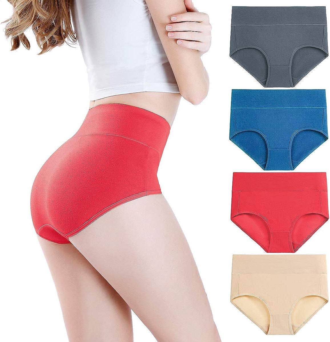 wirarpa Taillenslip Damen Unterhosen Mikrofaser Panties Slips Damen Unterwäsche mit Hoher Taille Ultra Weich Größe XS-XXXL