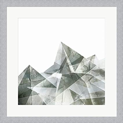 Amazon.com: Paper Mountains I by Posters International Studio Framed ...