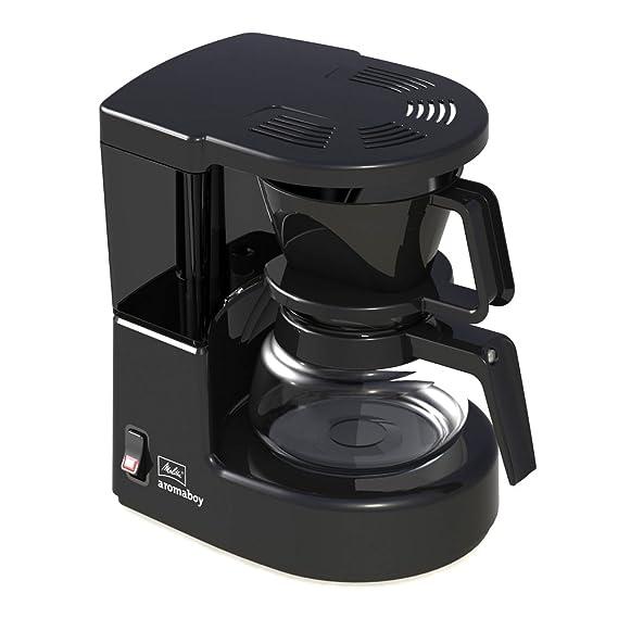 Melitta Cafetera de filtro con jarra de vidrio, Para 2 tazas de café, Aromaboy, Negro, 1015-02
