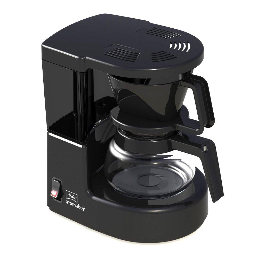 Melitta Cafetera de filtro con jarra de vidrio, Para 2 tazas de café, Aromaboy