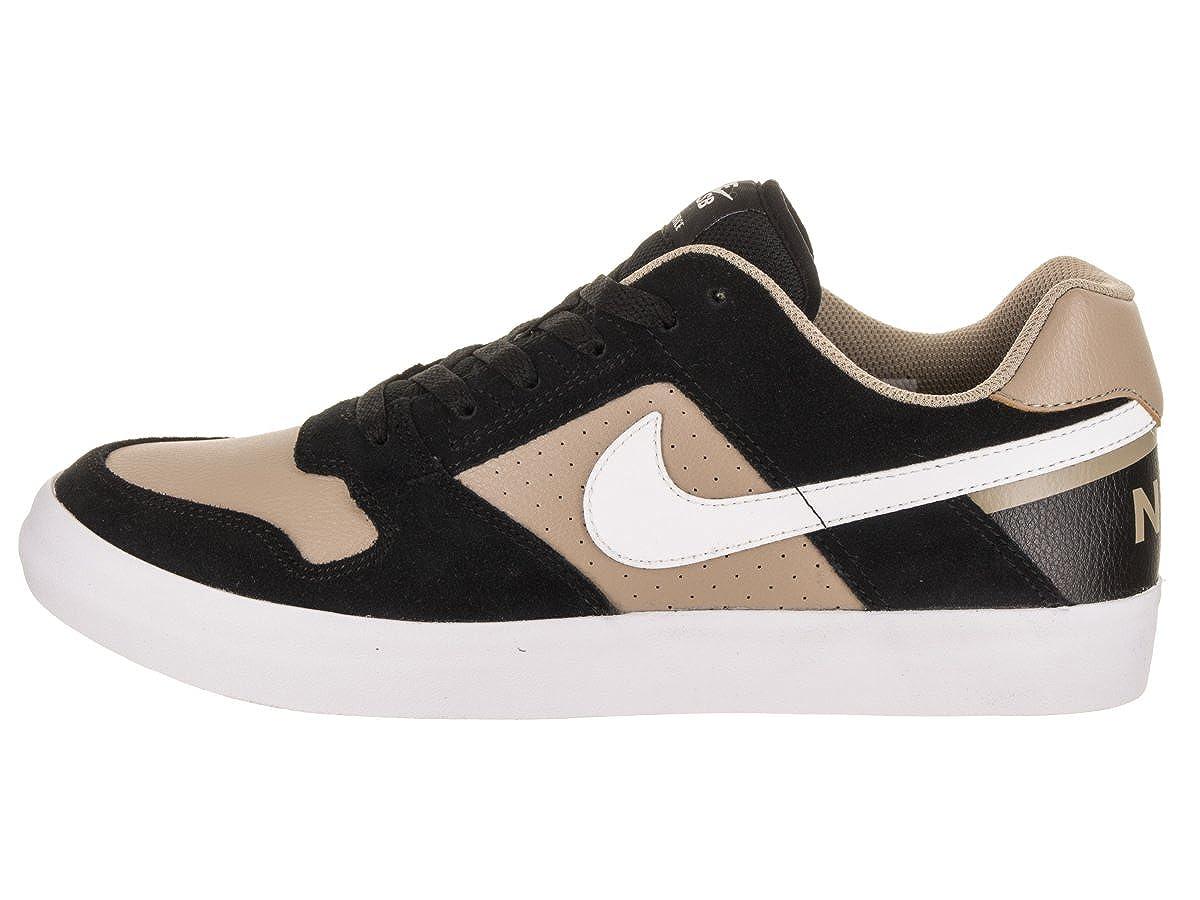 NIKE Herren SB Delta Force Vulc Skate-Schuh 8 US 7 7 7 UK Schwarz Khaki   Weiß Weiß 37b380