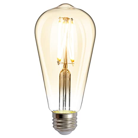 8W Edison Brown Light Bulb Highlighted Energy Saving Retro LED Light Bulb  Imitation Tungsten Light