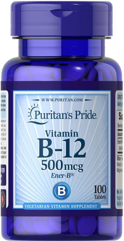 Puritan's Pride Vitamin B-12 500 mcg-100 Tablets