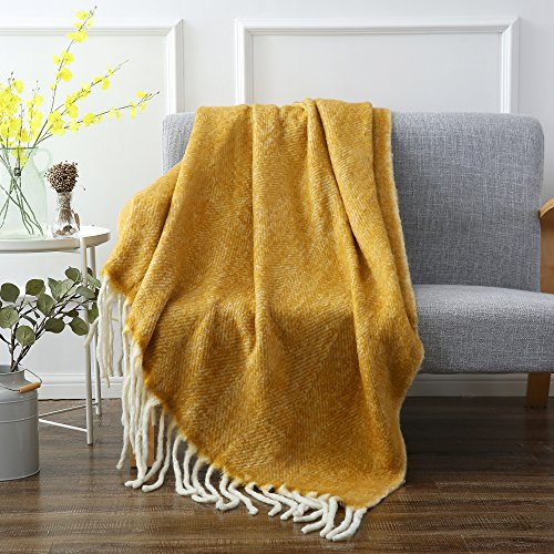 SLPR Faux Mohair Wool Blend Throw (50
