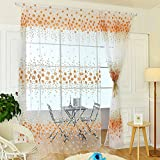 Best Norbi Curtains For Living Rooms - Norbi Floral Print Tulle Voile Window Room Curtain Review