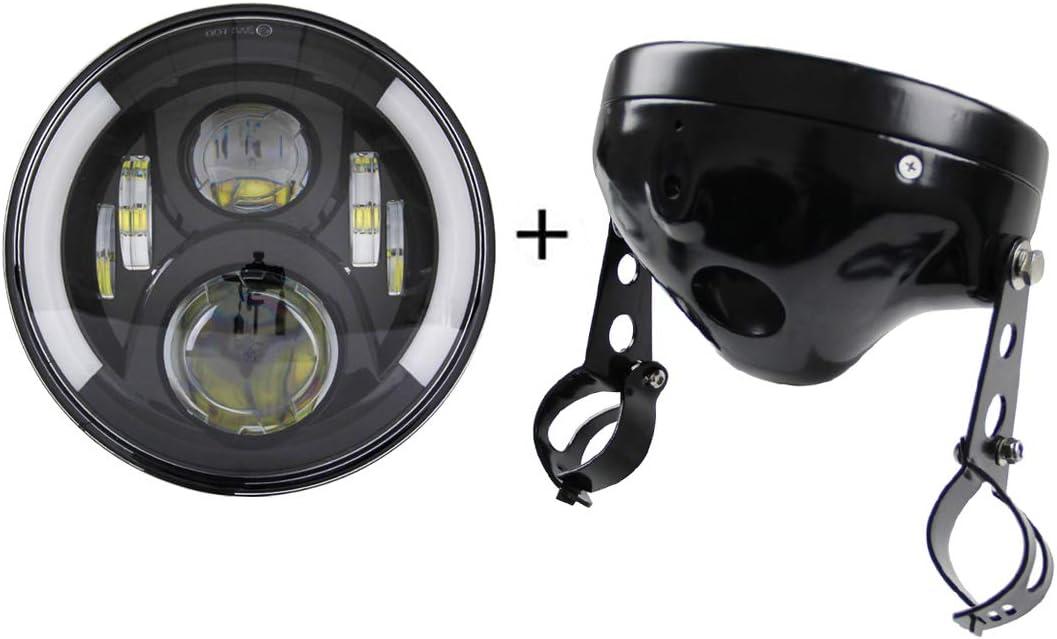 Chrome SKTYANTS 7 7 Inch Headlights Housing Bucket for Harley Davidson Motorcycle