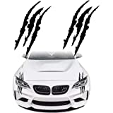 KE-KE Claw Marks Decal Reflective Sticker Waterproof Headlight Decal Vinyl Sticker Decal for Sports Cars 2PCS Black