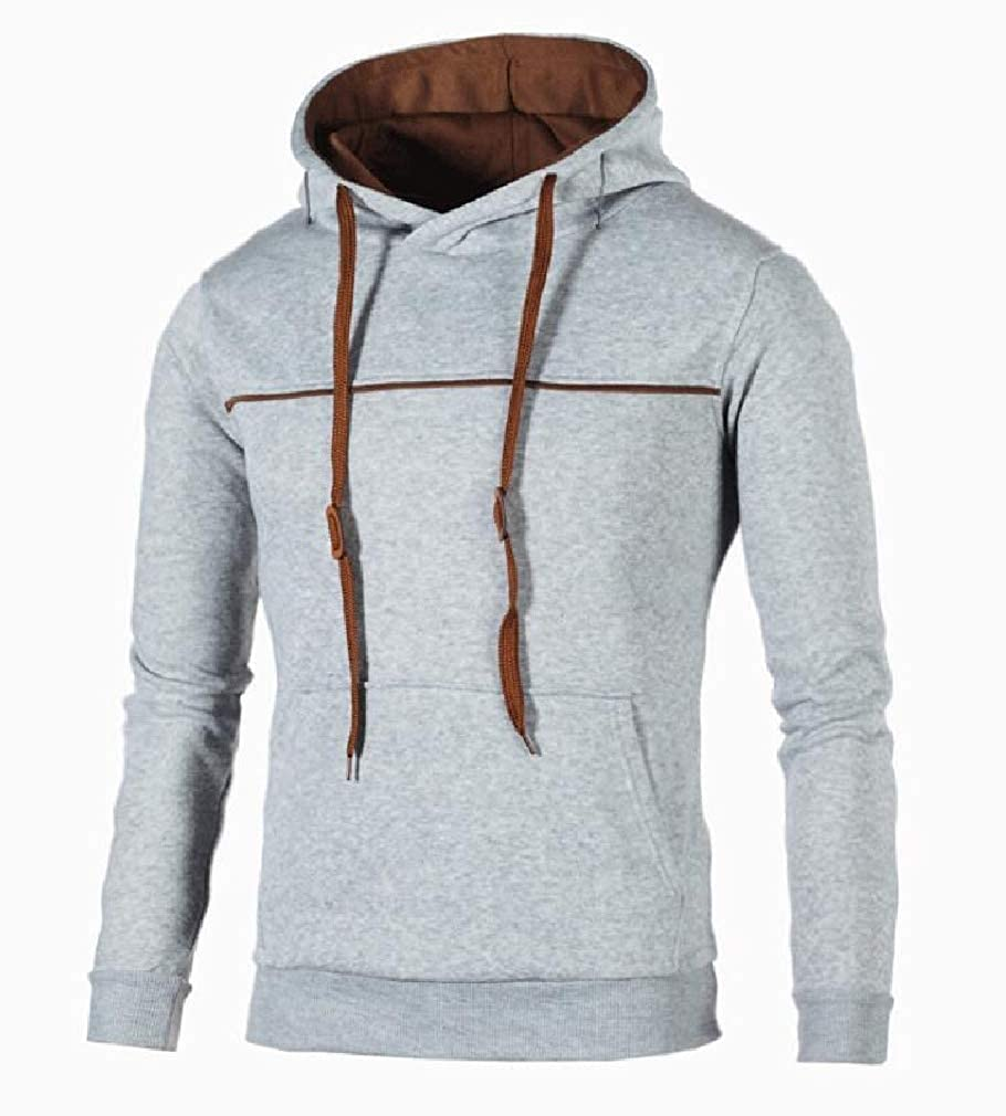 Joe Wenko Mens Long Sleeve Hooded Casual Drawstring Pullover Sweatshirt