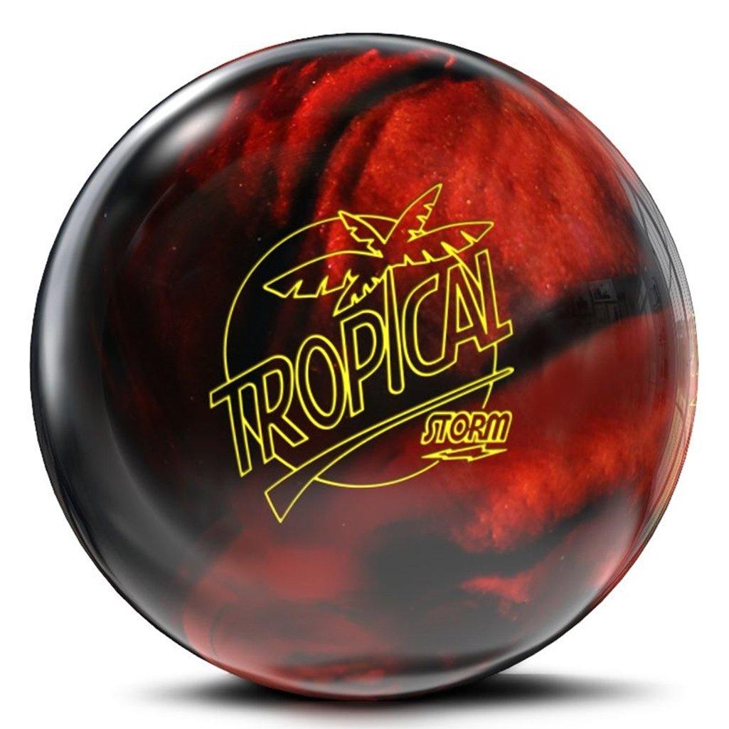嵐Tropical Storm pre-drilled Bowling ball-ブラック/銅 B07DFSDVHK  12lbs