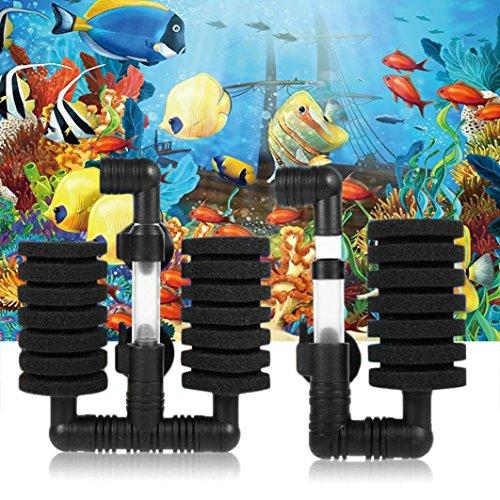 Clearance Sale!DEESEE(TM)New Practical Aquarium Biochemical Sponge Filter Fish Tank Air Pump (A) ()