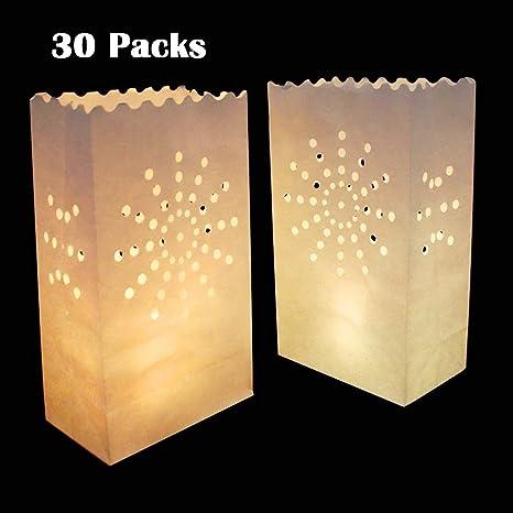 30 paquetes luminaria Linterna de papel, Vela Tealight Bolsa ...
