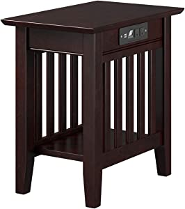 Atlantic Furniture AH13211 Mission End Table, Espresso