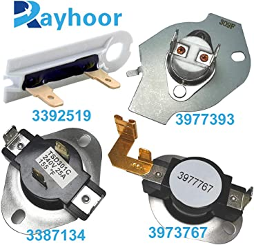 3977767 3399693 Hi Limit Thermostat Replaces Whirlpool Kenmore Dryer 10 PACK