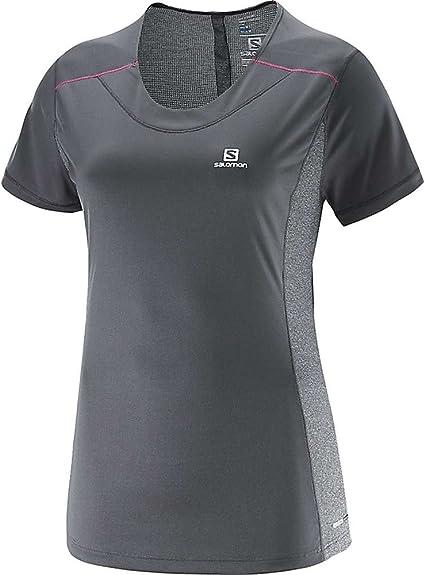 Salomon T Shirt Femme Agile SS Tee W Gris