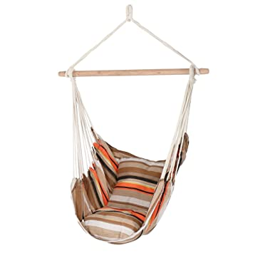 sunnydaze hanging hammock chair swing beach sunrise for indoor or outdoor use max