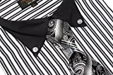 Christopher Tanner Mens Regular Fit Dress Shirts With Tie Hankerchief Cufflinks Combo Striped Pattern Button Down