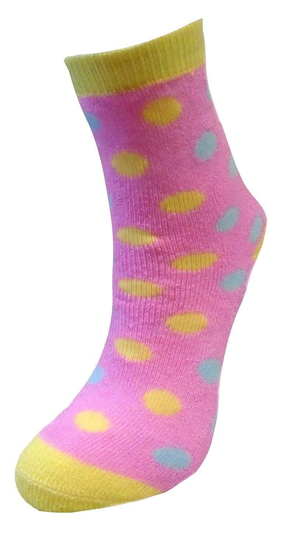 RJM Girls 6 pack Patterned Thermal Socks