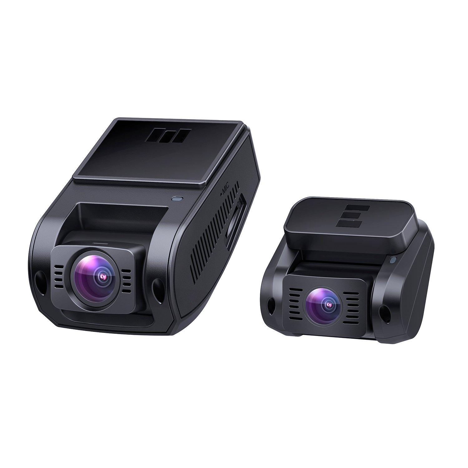 AUKEY Dual Dash Cam HD 1080P Front and Rear Camera Car Camera Supercapacitor 6-Lane 170 Degrees Wide-Angle Lens Dashcam with Night Vision, Loop, G-Sensor, Motion Detection and Dual-Port Car Charger by AUKEY