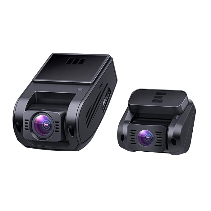 Aukey Dual Dash Cam, 1080 P Hd Front And Rear Camera, 6 Lane 170° Wide Angle Lens, Night Vision, G Sensor, Dual Port Car Charger by Aukey