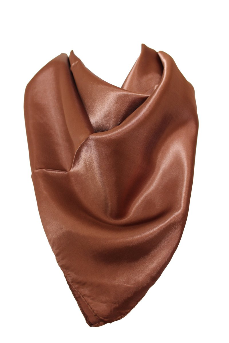 Elegant Plain Colour Silk Satin Scarf Bandana Neck Square Head Wrap (Black) Other