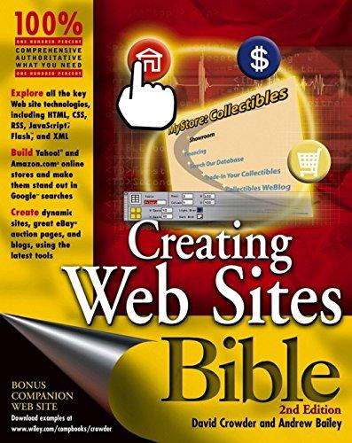 Creating Web Sites Bible - Specs Buy Uk Online