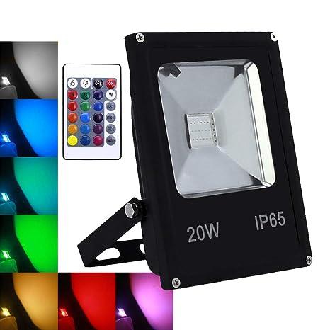 10-50W LED RGB Flutlicht Strahler Fluter Lampe Arbeitslampe Farbig Außen Garten