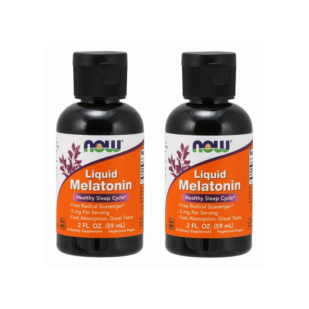 Now Foods Liquid Melatonin 3 mg - 2 oz (2 Pack) Packaging May Vary
