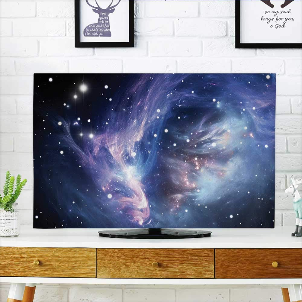 L-QN Front Flip Top Mysterious Nebula Gas Cloud in Deep Ouuter Space with Star Cluster Universe Solar Front Flip Top W32 x H51 INCH/TV 55'' by L-QN