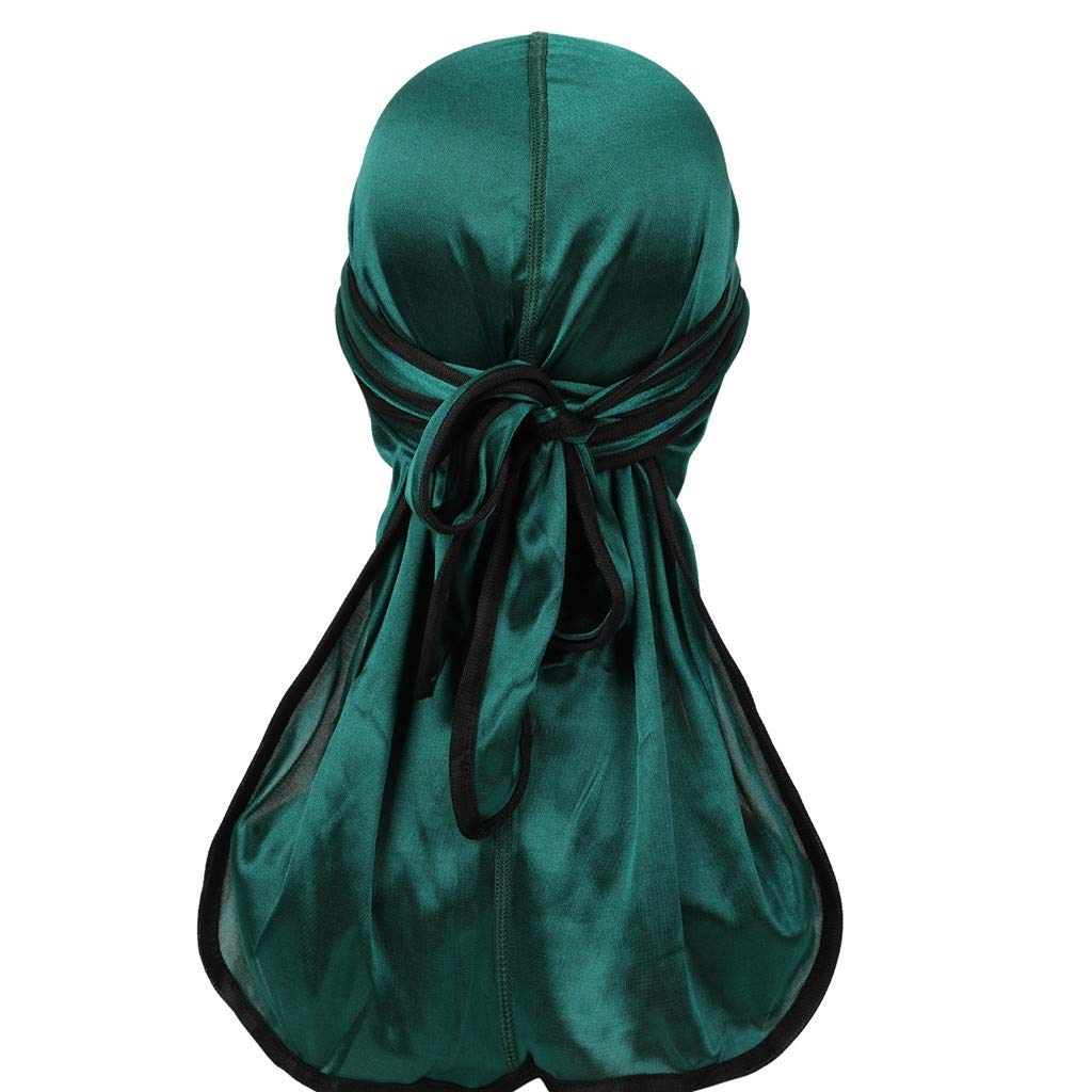 Pollyhb Women Cancer Chemo Hats Muslim Hat Solid Turban Wrap Scarf Cap