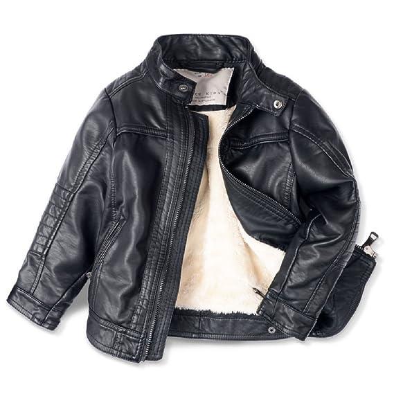 online store f60da e2c00 LJYH per bambini con sella in pelle look cappotto giacca in similpelle T3 –  12