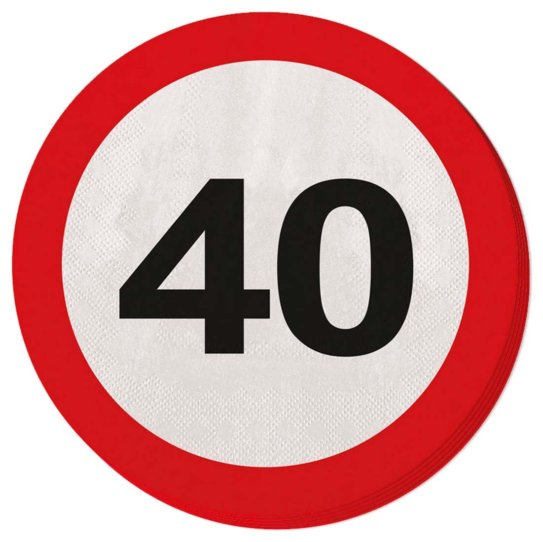 NET TOYS Globo 40 cumpleaños señal de tráfico 30 cm Balón de Aire Globo Fiesta Esfera Hinchable con número Balones para hinchar Aniversario Globito ...