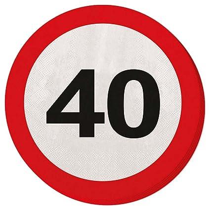 Toalla de papel para fiesta Servilletas 40 cumpleaños señal ...