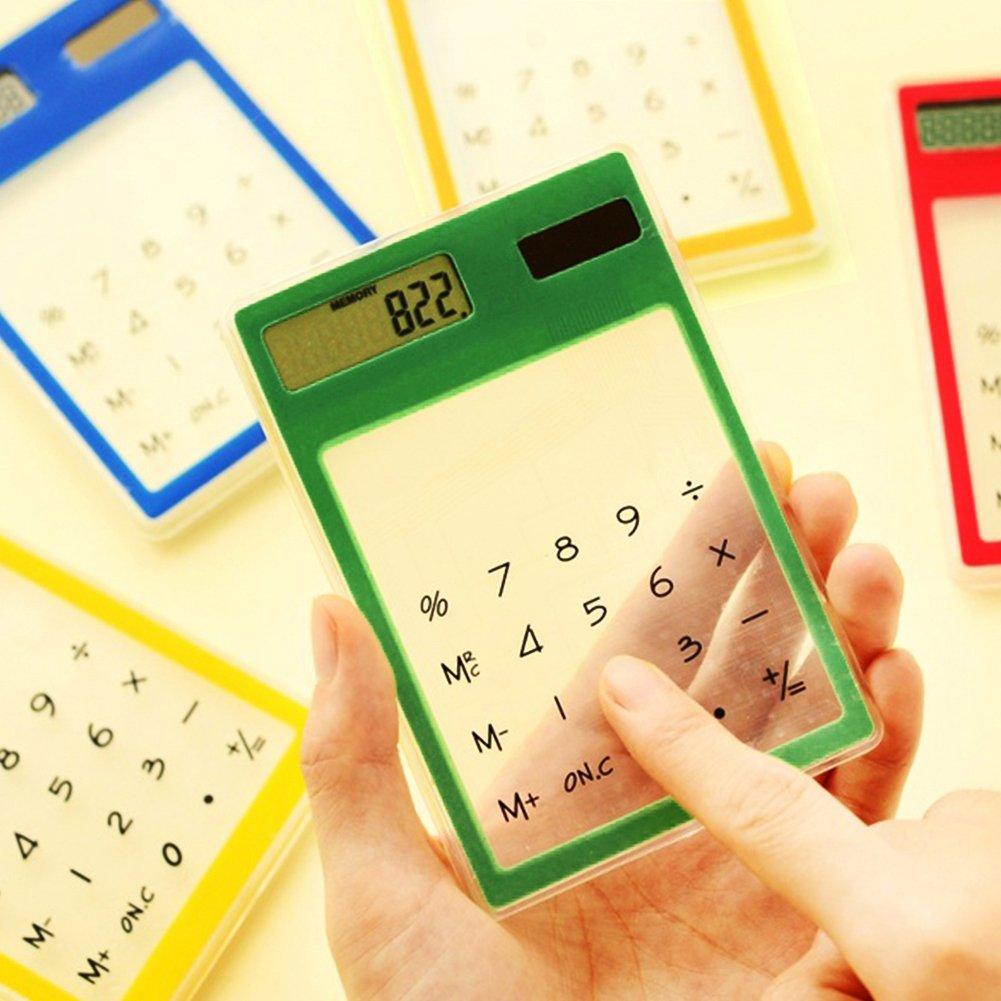 Nero GEZICHTA LCD 8/cifre touch screen ultra slim trasparente calcolatrice solare cancelleria Clear calcolatrice scientifica studente scuola ufficio